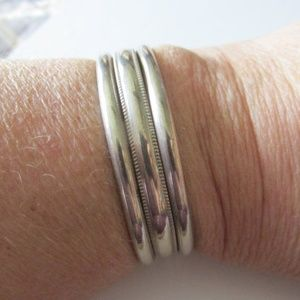 Sterling CUFF BRACELET Signed DRW Native American